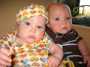 Twins at 7 months-so serious