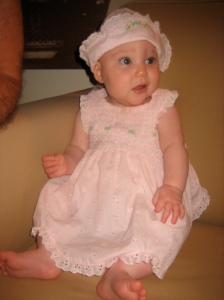 Ellisa in her Easter bonnet