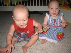 Twins first 4th of July