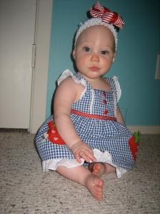 Ellisa in her 4th of July dress