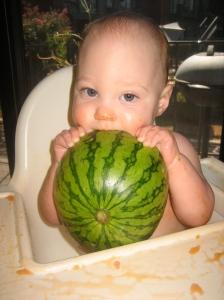 Ellisa loves watermelon