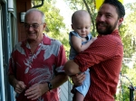 Grandpa Walsh, Hudson, and Charles