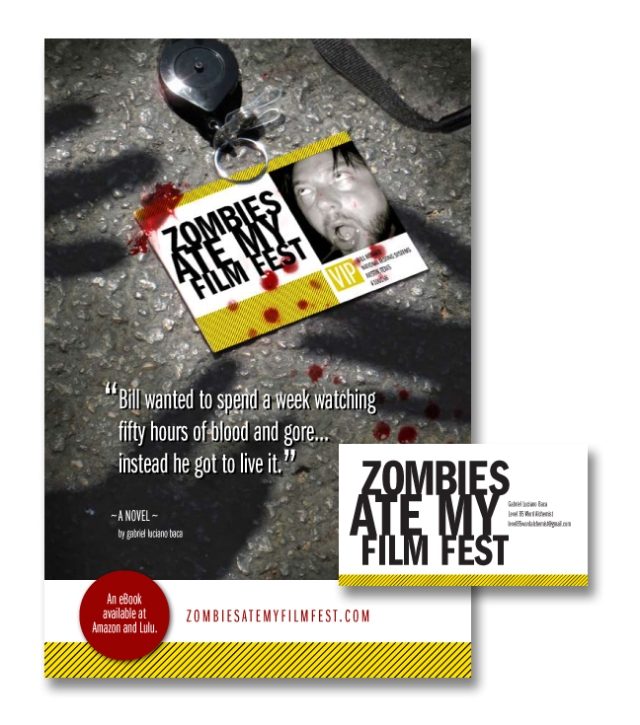 Zombies Ate My Film Fest Flyer and Business Card