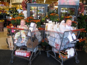 Ellisa and Hudson in their first HEB