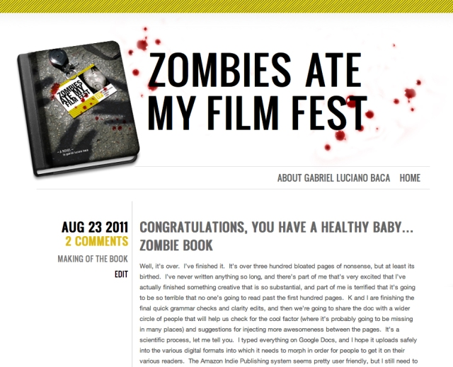 Zombies Ate My Film Fest website design