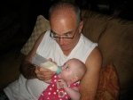 Grandpa Walsh Feeding Ellisa