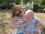 Mommy and Hudson at the Park
