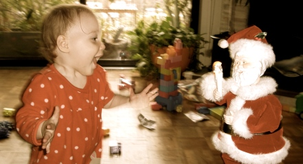 Ellisa Dancing with Santa