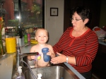 Grandma Purma and Hudson Having Some Bath Fun