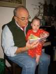 Grandpa Tom and Ellisa Reading