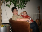 Grandma Purma and Hudson Reading