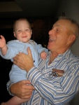 Ellisa and Grandpa Purma Having a Laugh