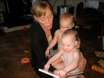 Mommy Trying to Read to Twins