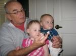 Grandpa Tom Sharing His Birthday Cake Frosting