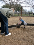 Great Aunt Maureen and Hudson Playing at the Park