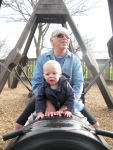 Mary Ann and Hudson Playing at the Park