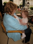 "Ellisa Signing ""Again"" to Great Aunt Mary Jo"