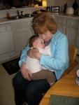 Great Aunt Mary Jo Putting Ellisa to Sleep