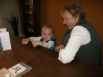 Hudson and Great Aunt Maureen Playing