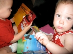 Hudson and Ellisa Opening Their Valentine's Cards