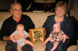 The Walsh twins (Tom and Mary Jo) with the Purma Twins (Hudson and Ellisa)