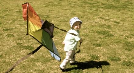 Hudson Flying Our Kite