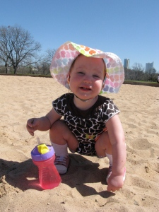 Ellisa Playing in the Sand