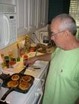 Papa Making Breakfast: Blueberry Pancakes!