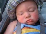 Hudson Sleeping in the Stroller