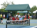 Pickleball Players Cheering on Their Mates