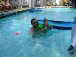 Daddy Warming Ellisa Up to the Pool