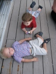 Hudson and Baylor Rolling Around