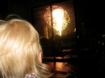 Hudson Watching Fireworks from Our Couch